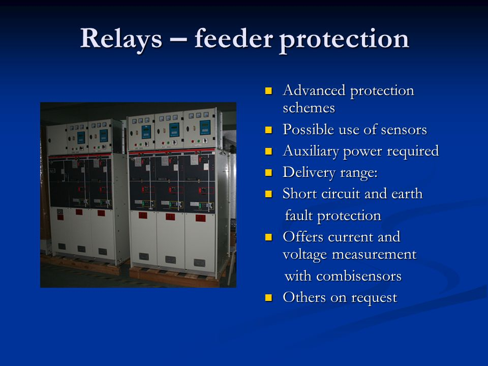 Relays E Feeder Protection