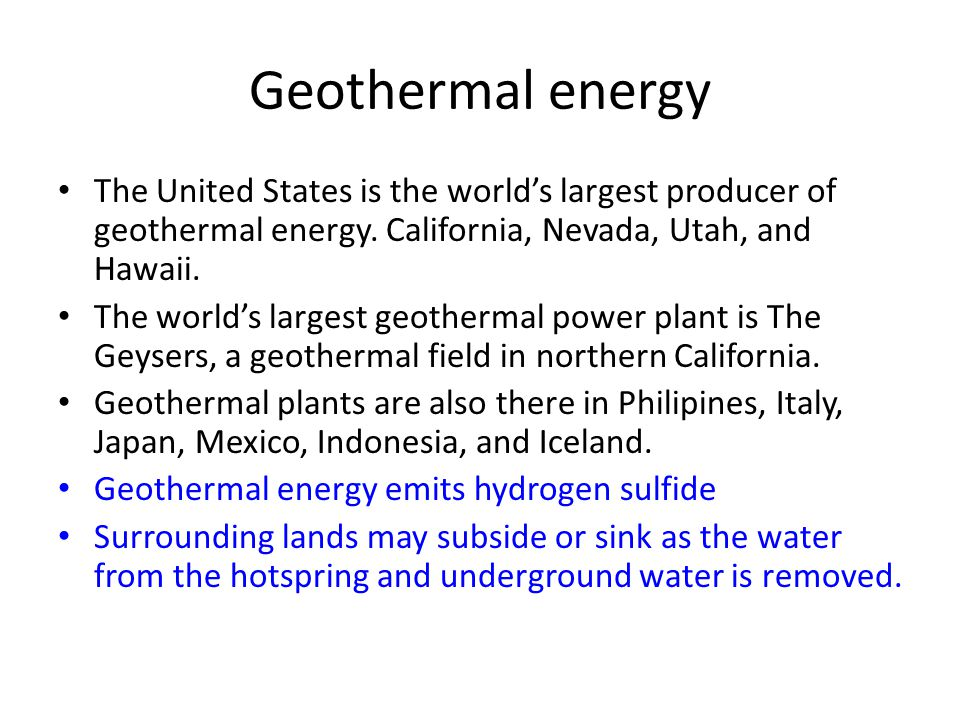 geothermal energy in the united states