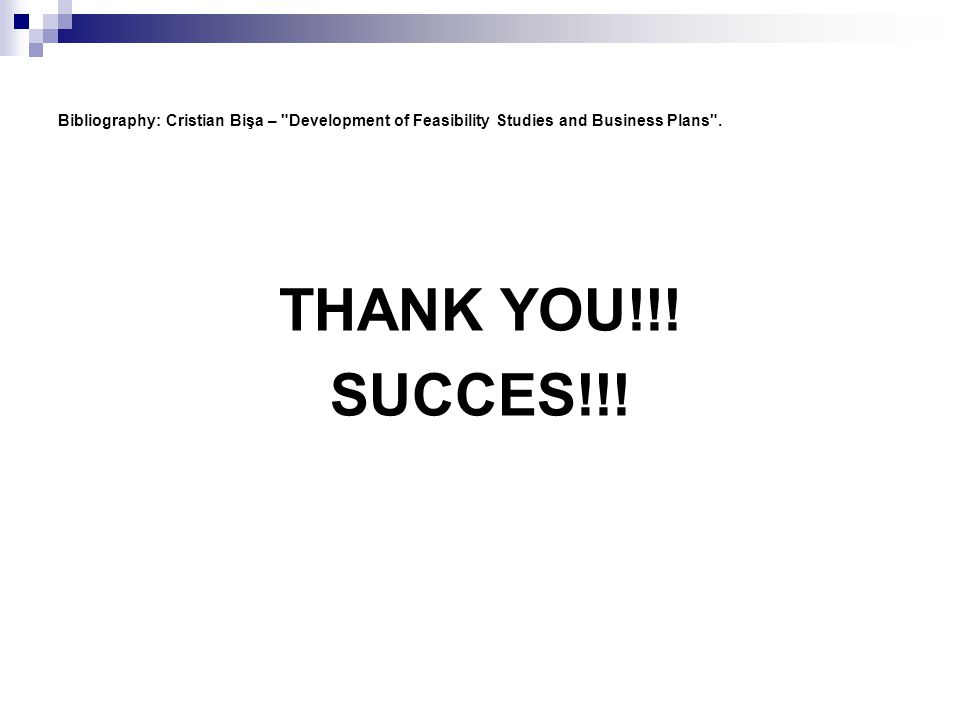 feasibility study of business plan ppt presentation