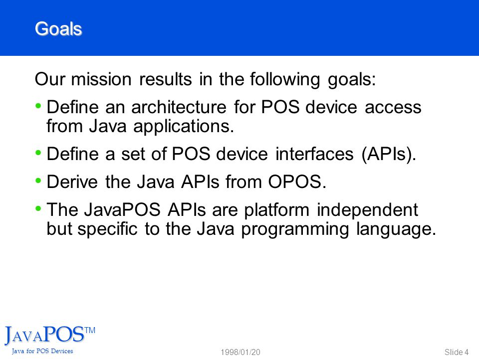 Javapostm java for pos devices ppt video online download for Anarchitecture definition