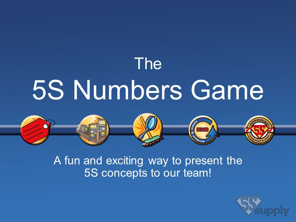 a fun and exciting way to present the 5s concepts to our team, Powerpoint templates