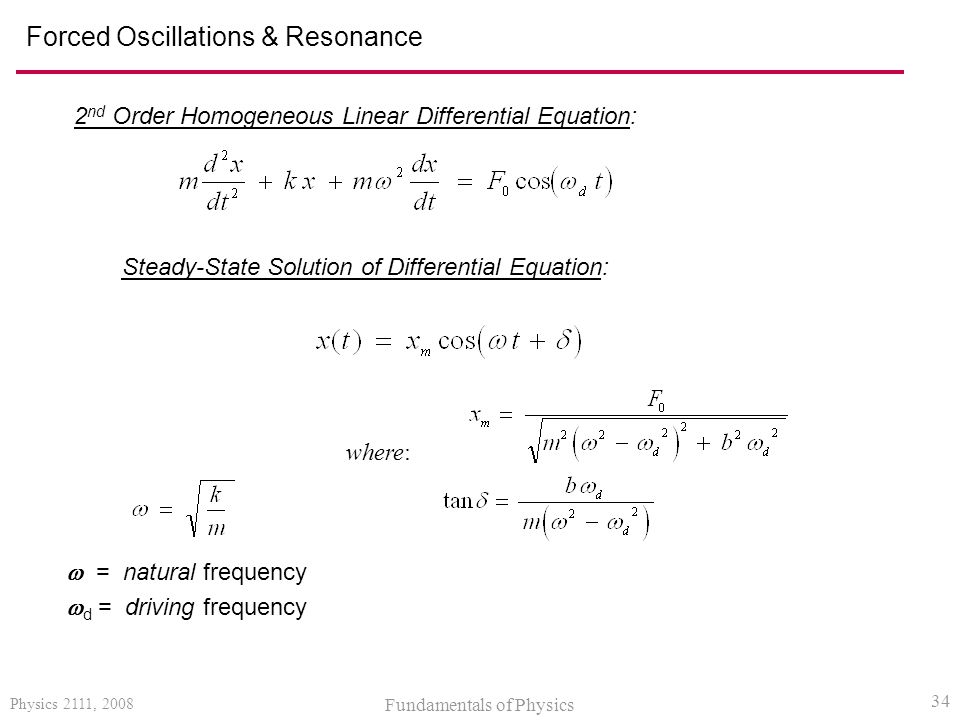 Forced Oscillations & Resonance