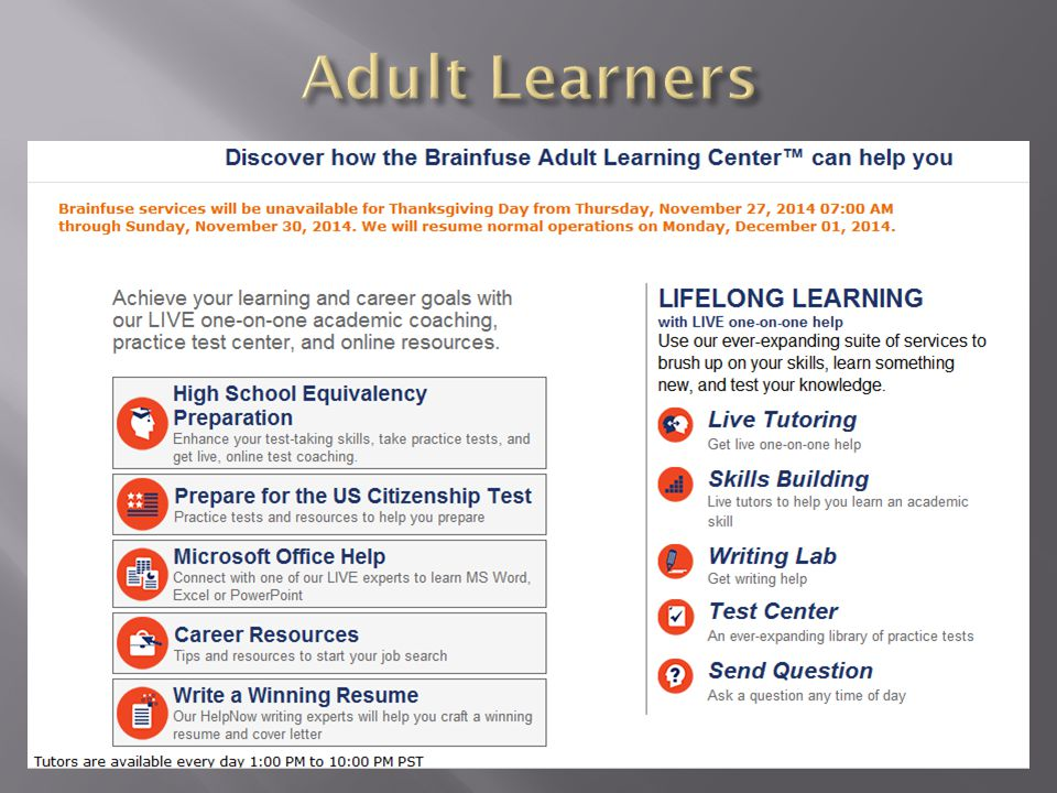 learning tests adult