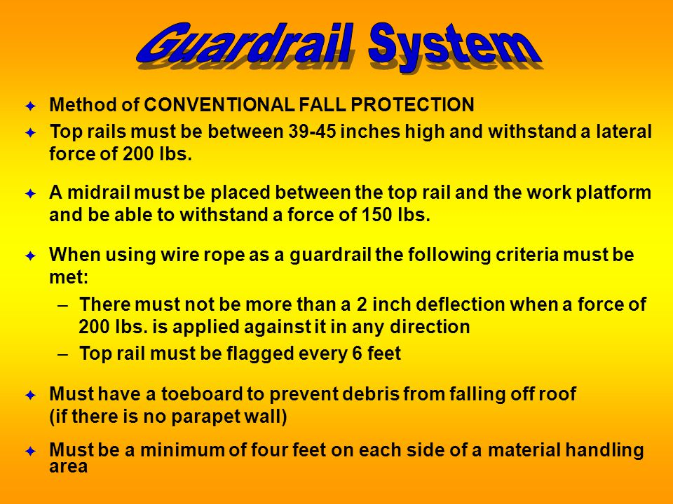 Fall Protection in the Roofing Industry - ppt video online download