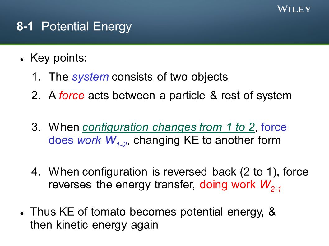 Potential Energy and Conservation of Energy - ppt download