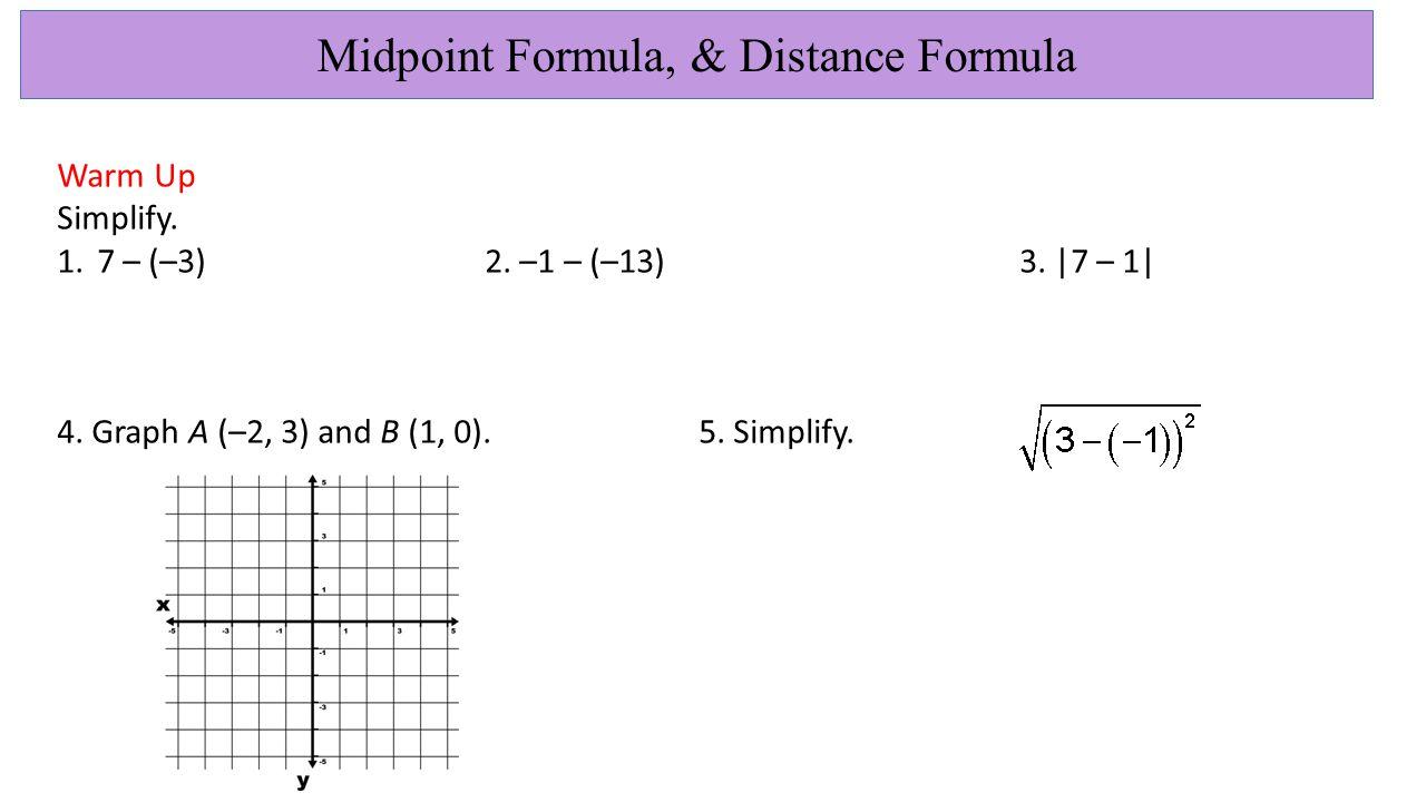 midpoint formula distance formula ppt download. Black Bedroom Furniture Sets. Home Design Ideas