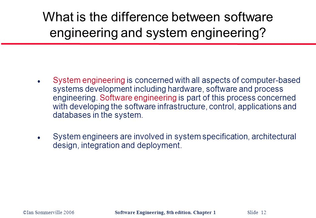 what is the relationship between software and systems engineering