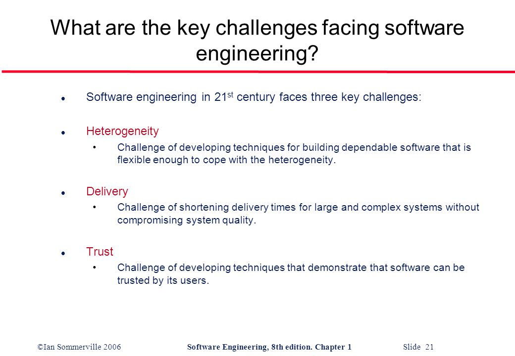 major challenges in software engineering When scaling agile to the enterprise new concerns arise that require revisiting the values and practices of agile software development one such concern relates to a.