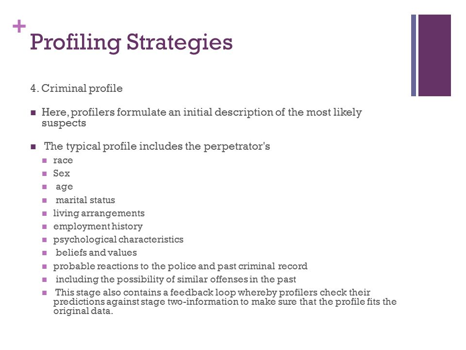 by leila oakley and lauren wright ppt video online  8 profiling strategies 4 criminal profile