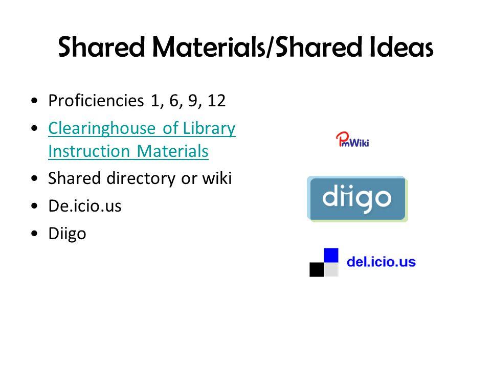 Shared Materials/Shared Ideas