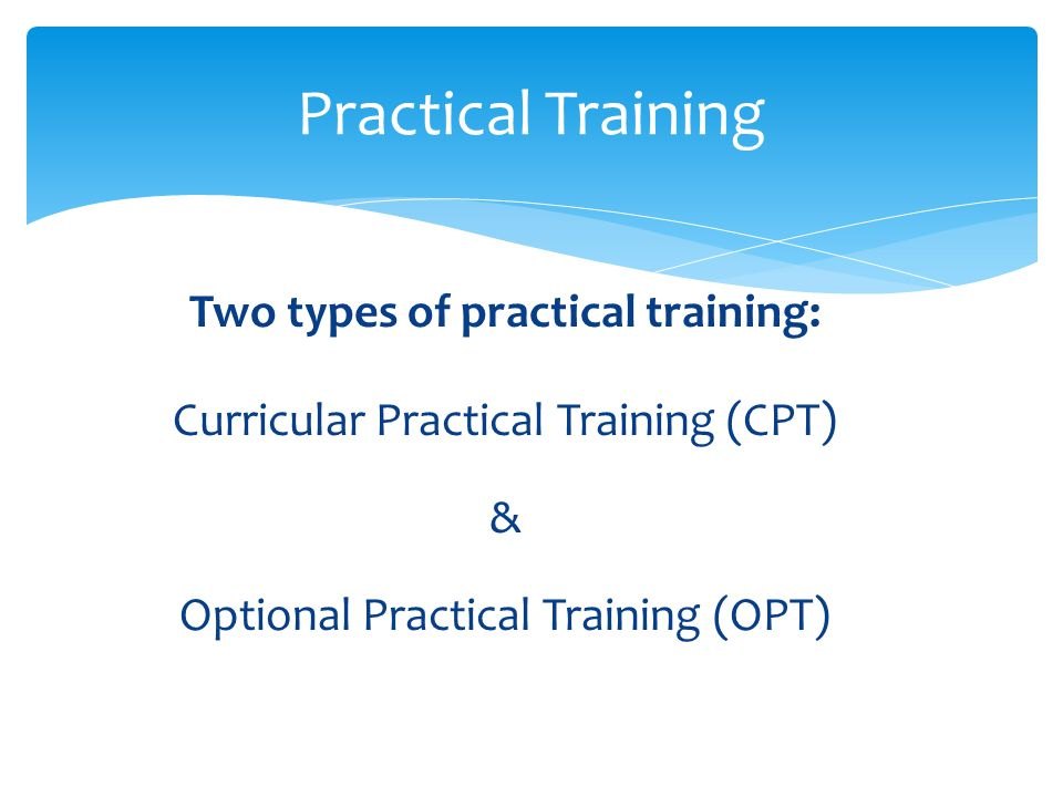 training and placement for opt cpt Job training and placement program our program prepares participants for administrative careers that require professionalism and computer skills 90% begin employment within 6 months at an average starting wage of $1450 an hour.