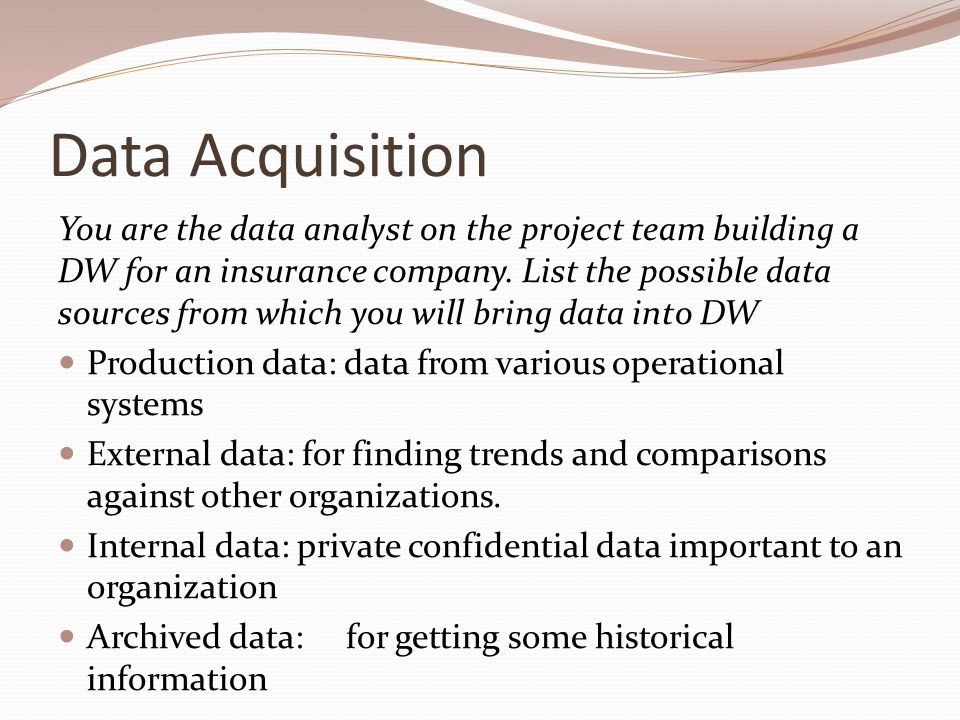 Data Acquisition And Trending : Data warehouse components ppt video online download