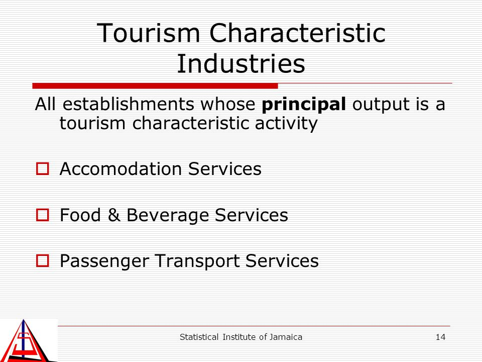Tourism Characteristic Industries
