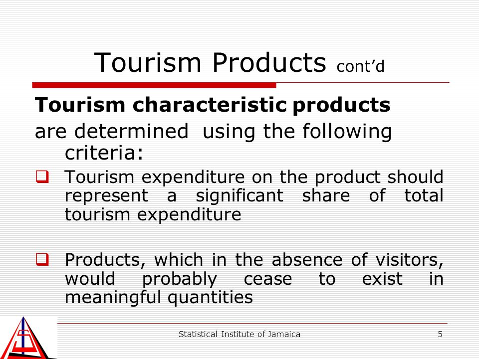 Tourism Products cont'd