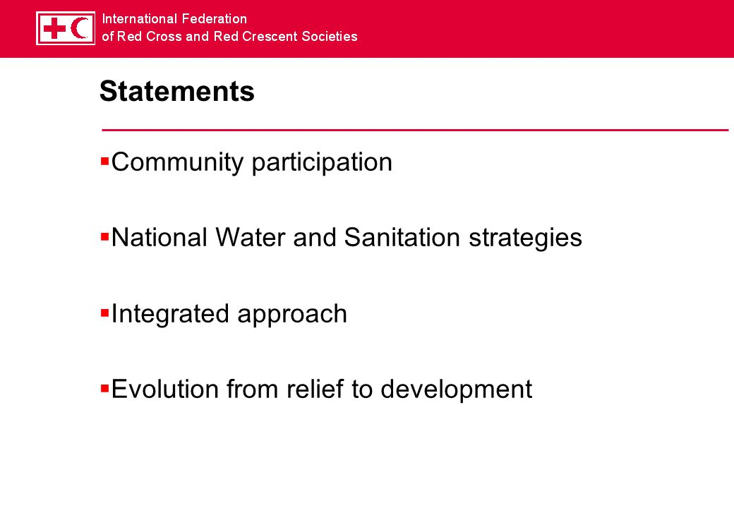 Statements Community participation