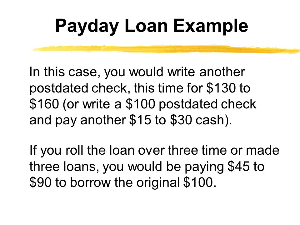 Payday Loan Example