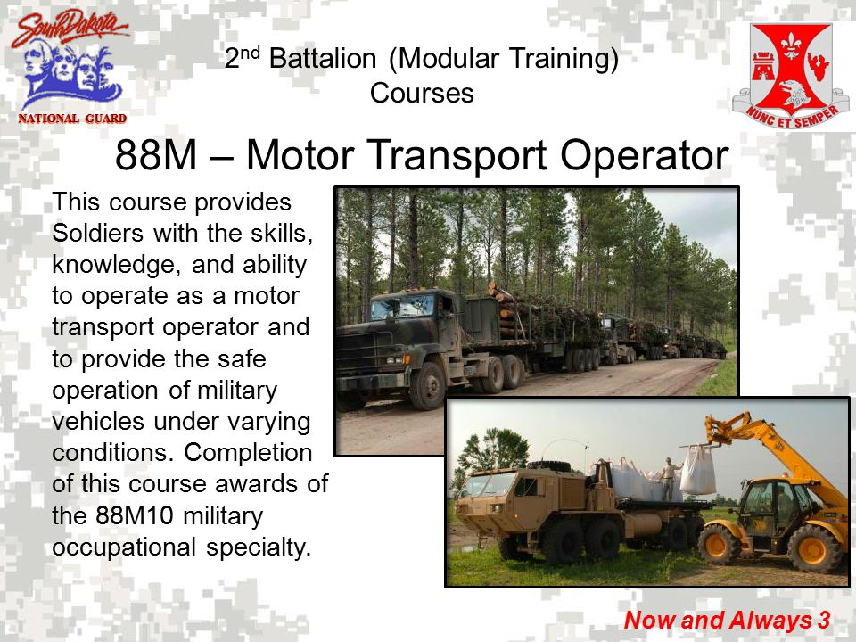 13m multiple launch rocket system crewmember ppt download for 88m motor transport operator