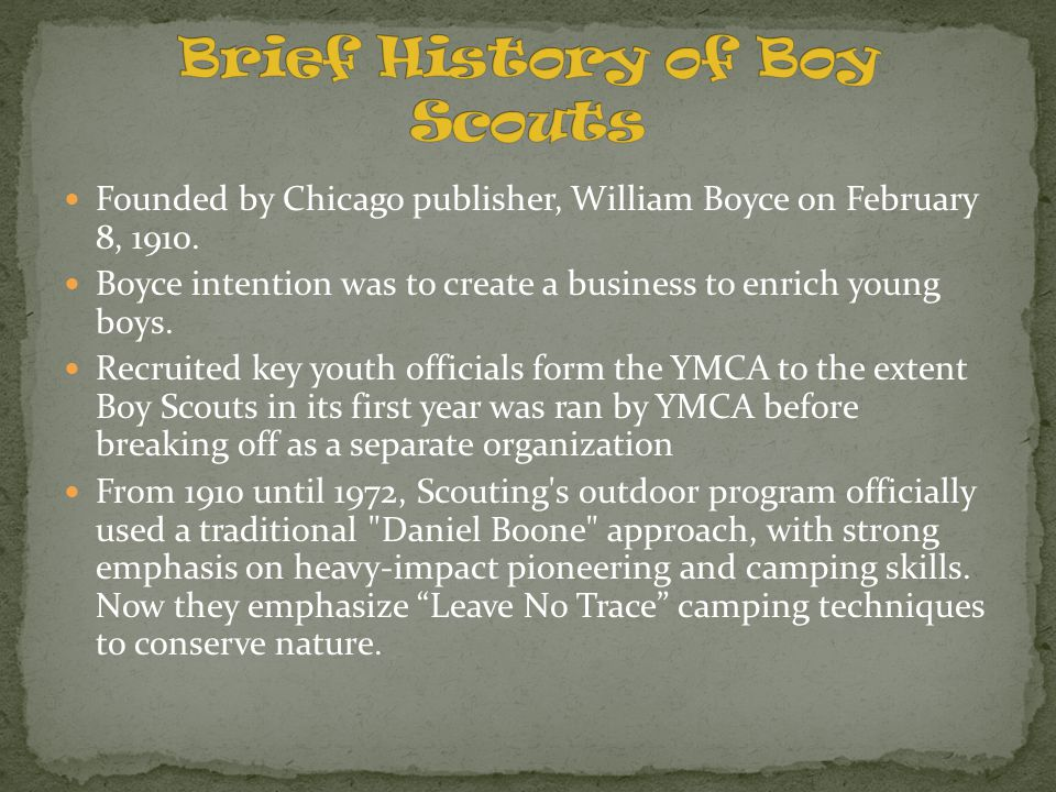 Brief History of Boy Scouts