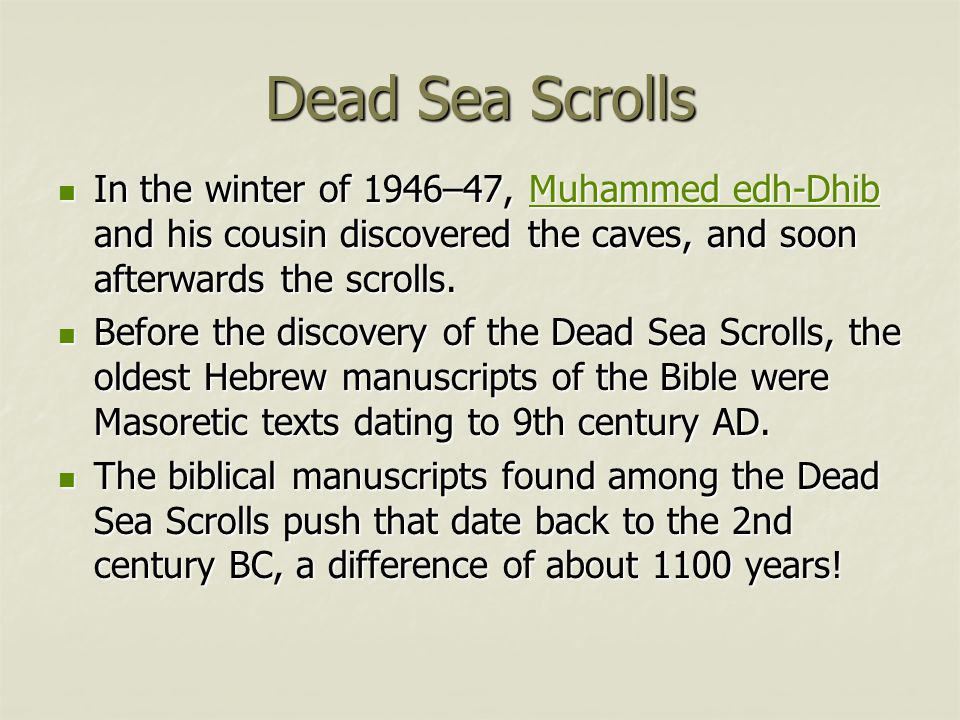 Dead sea scrolls carbon dating