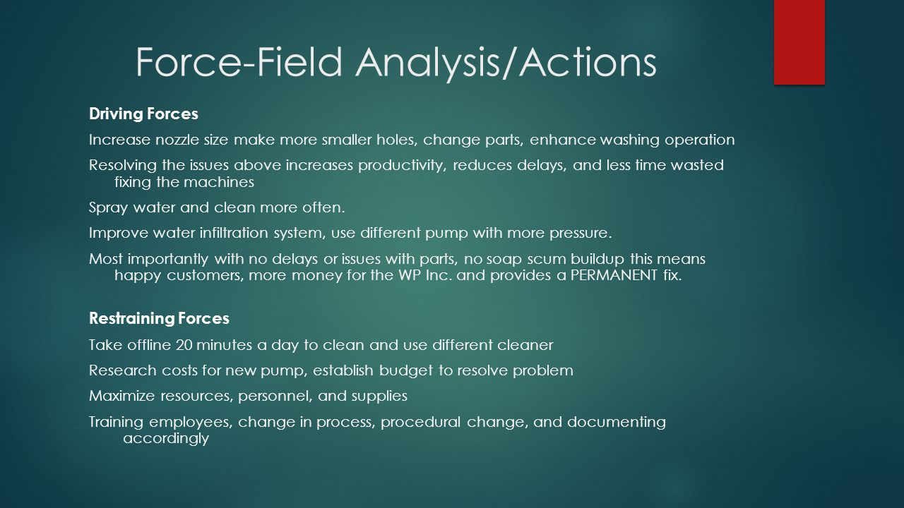 Force-Field Analysis/Actions