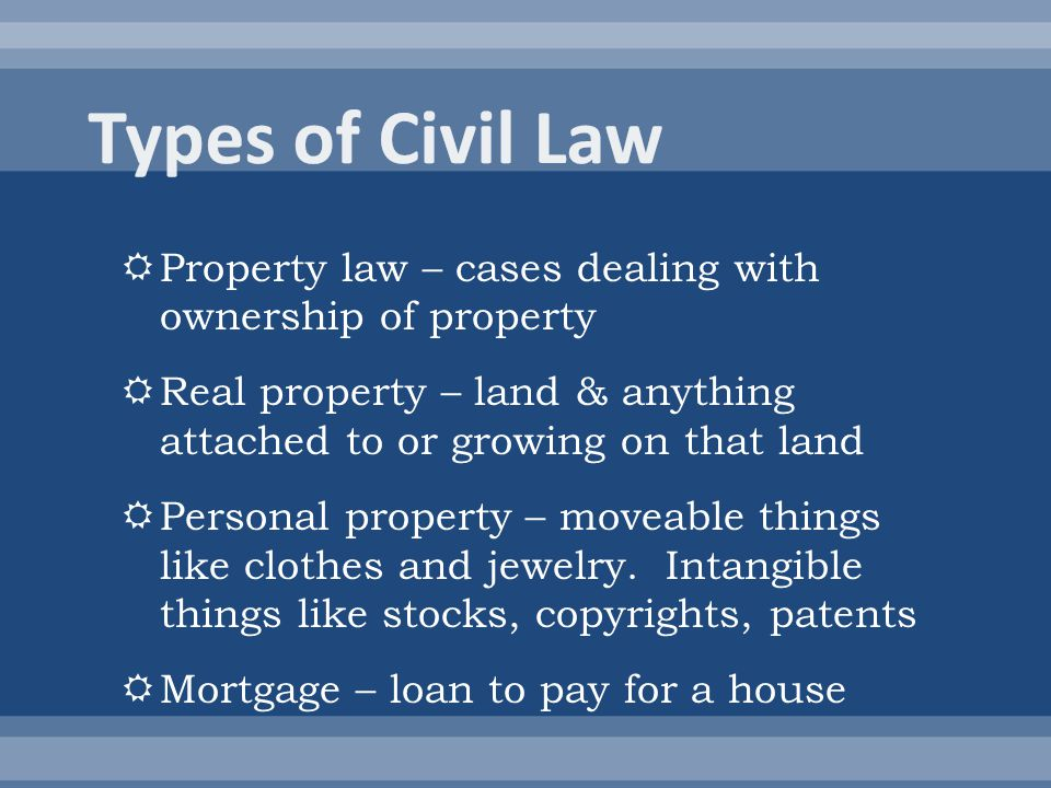 Law Types Of Property