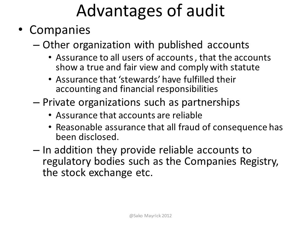 disadvantages of auditing Rotating auditors are at a disadvantage in finding psychological support for either  the possible truth or falsity of their clients' claims as a result.