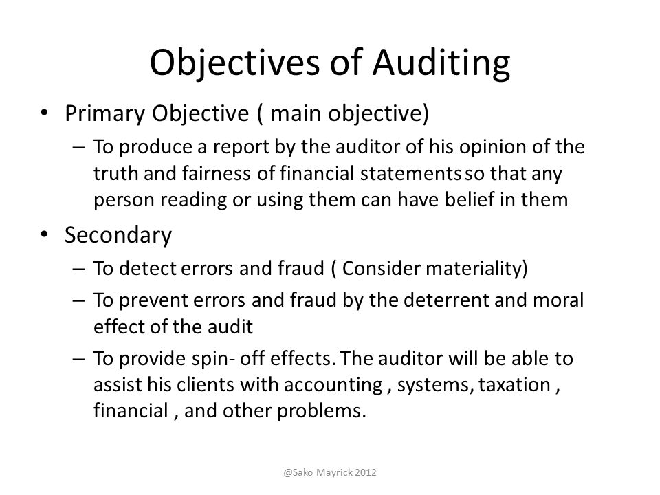 objectives of a review and audit Performance audit objectives can be thought of as questions about the program that the auditors seek to answer based on evidence obtained and assessed against.