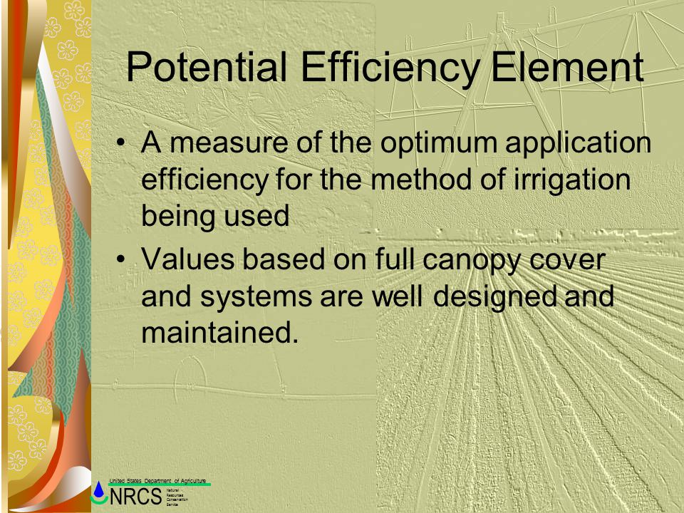 Potential Efficiency Element