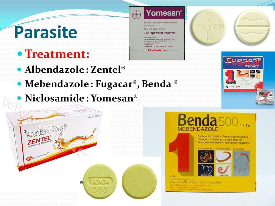 Zentel parasite medicine
