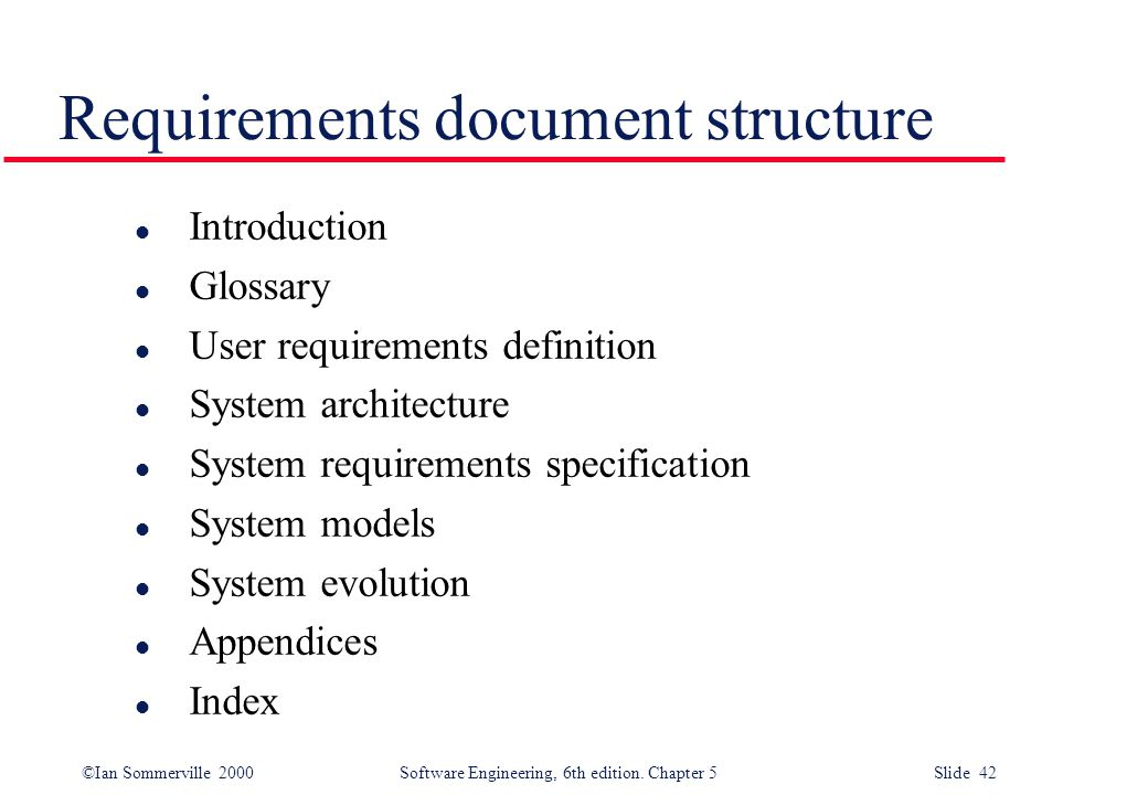 user requirements definition system architecture system requirements