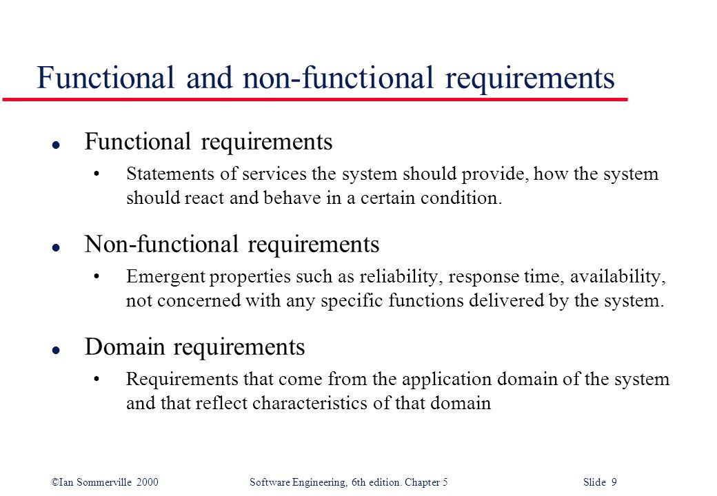 functional and non functional requirements essay