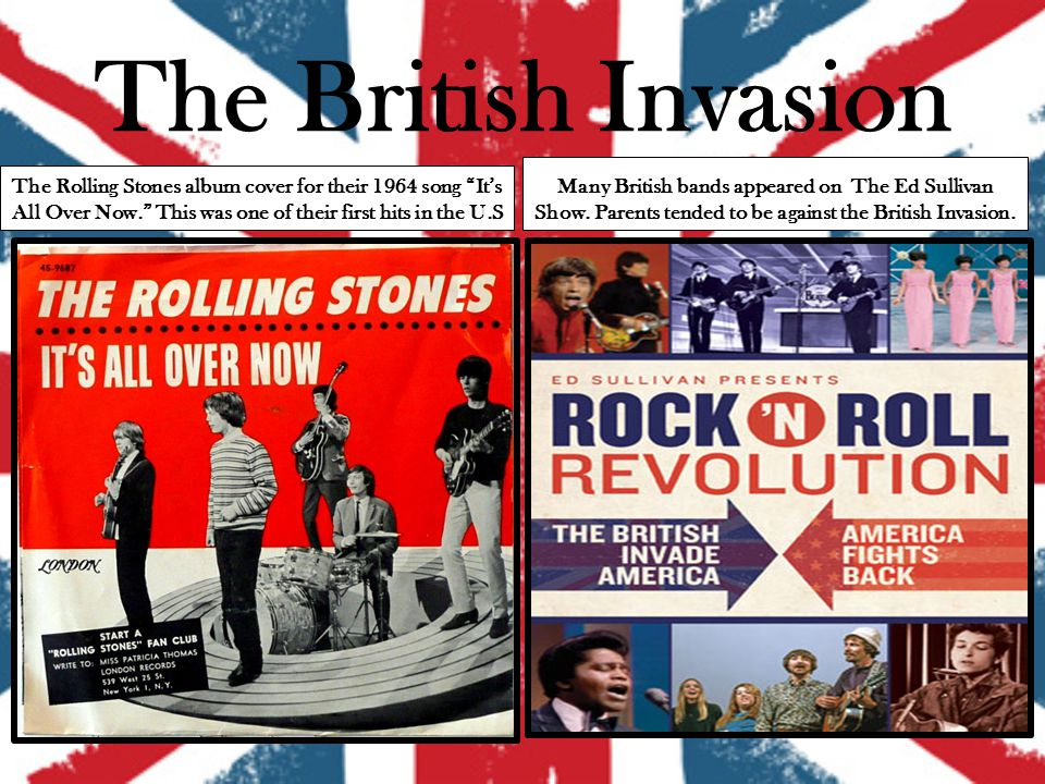 The bands that influenced the british invasion