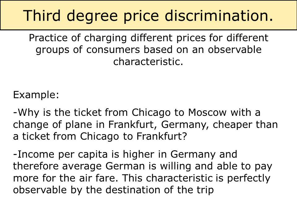 A firm has control over the prices only if it has some for Cost of plane ticket to germany