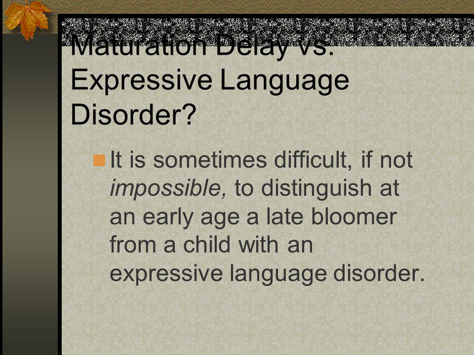 the effects of expressive language disorder Making connections - use understanding of the concept of an expressive language disorder and its effects on people additional learning  types of expressive language disorders.