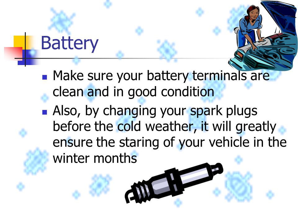 How To Clean Battery Terminals Car Cold Weather
