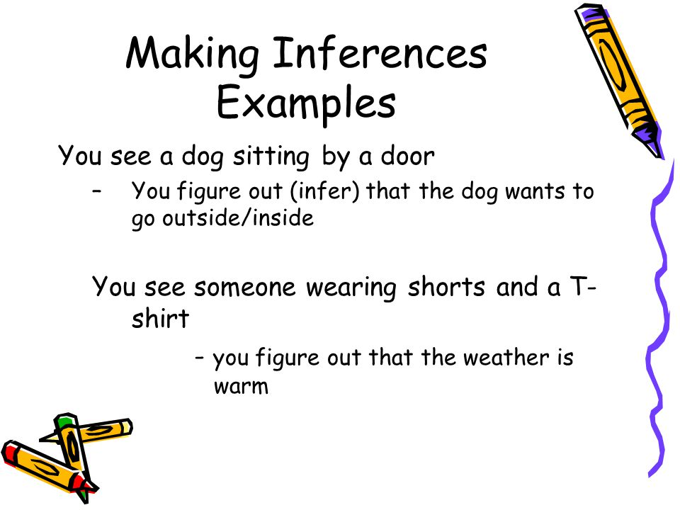 Making Inferences | instrucciones | Pinterest | Inference, Making ...