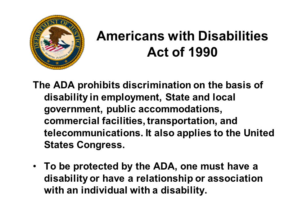 "americans with disabilities act Twenty-eight years ago this week, the americans with disabilities act (ada)  became law, promising to finally guarantee ""equality of opportunity,."