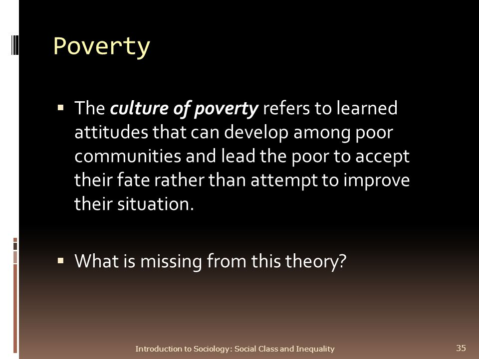 class and stratification ppt video online poverty