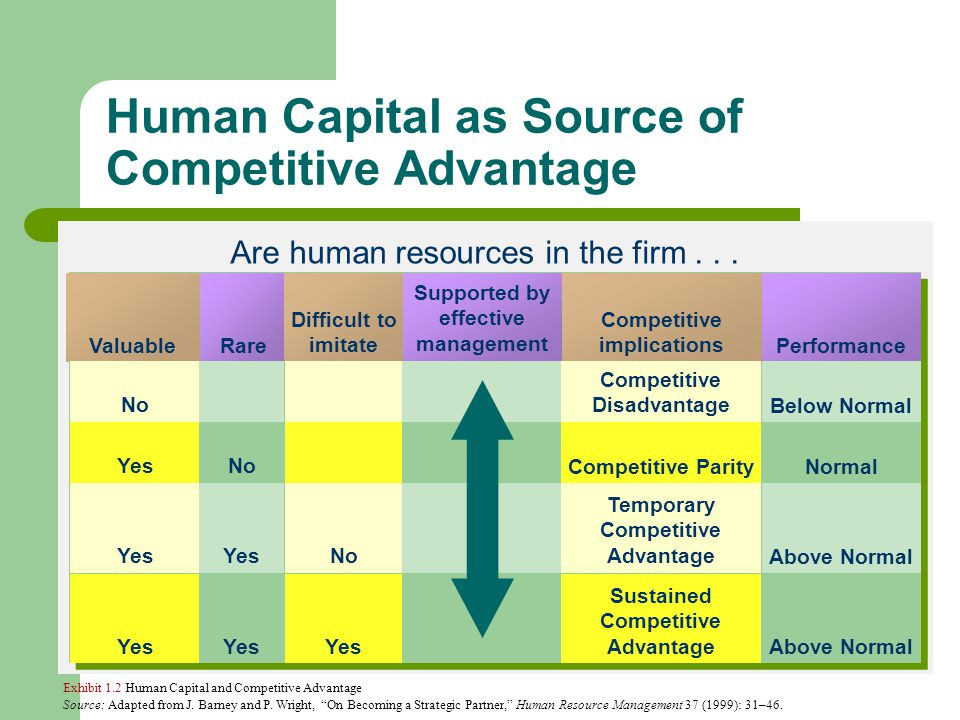 The Role of Human Resources in Gaining Competitive Advantage