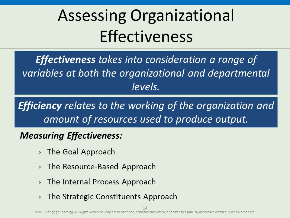 Organizations and Performance