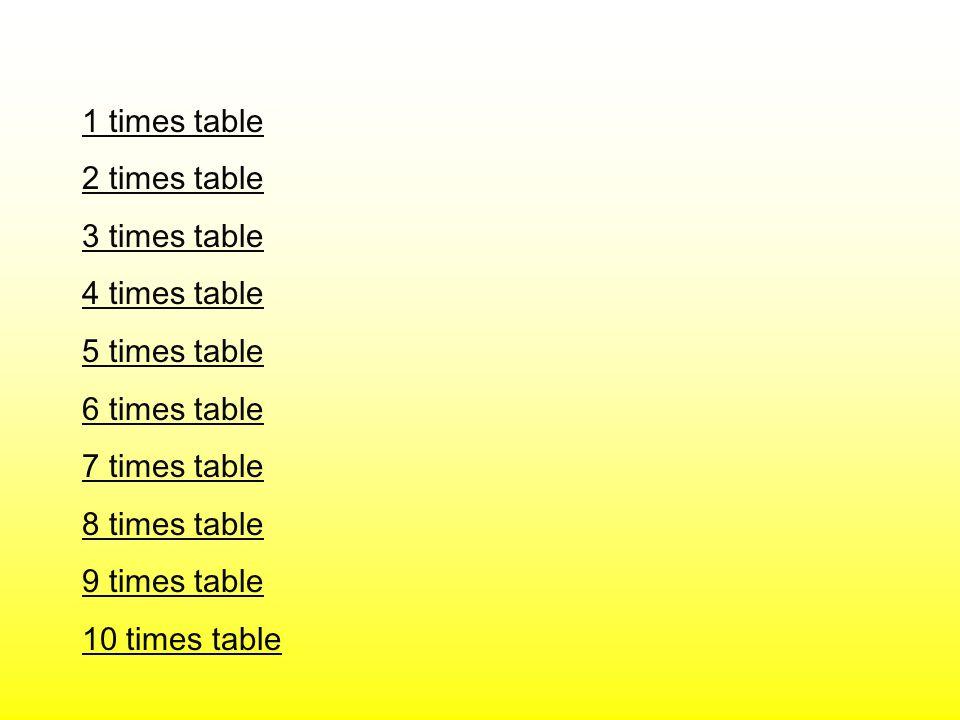 1 times table 2 times table. 3 times table. 4 times table. 5 times table. 6 times table. 7 times table.