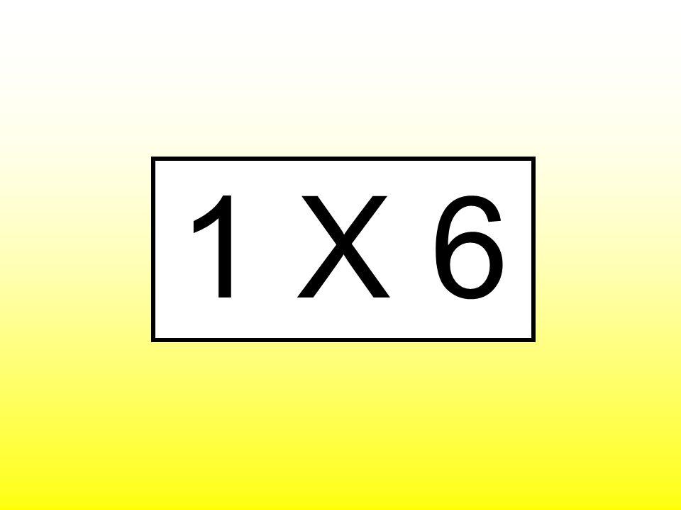 1 X 6