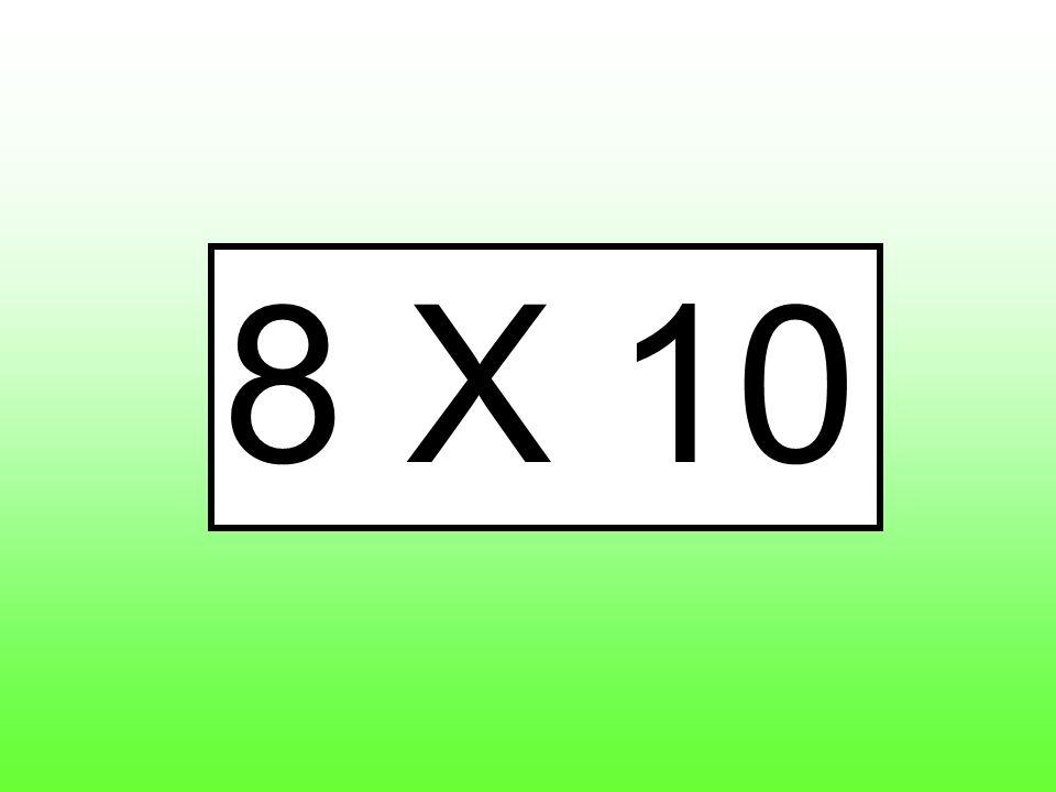 8 X 10
