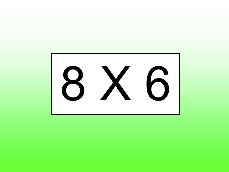8 X 6