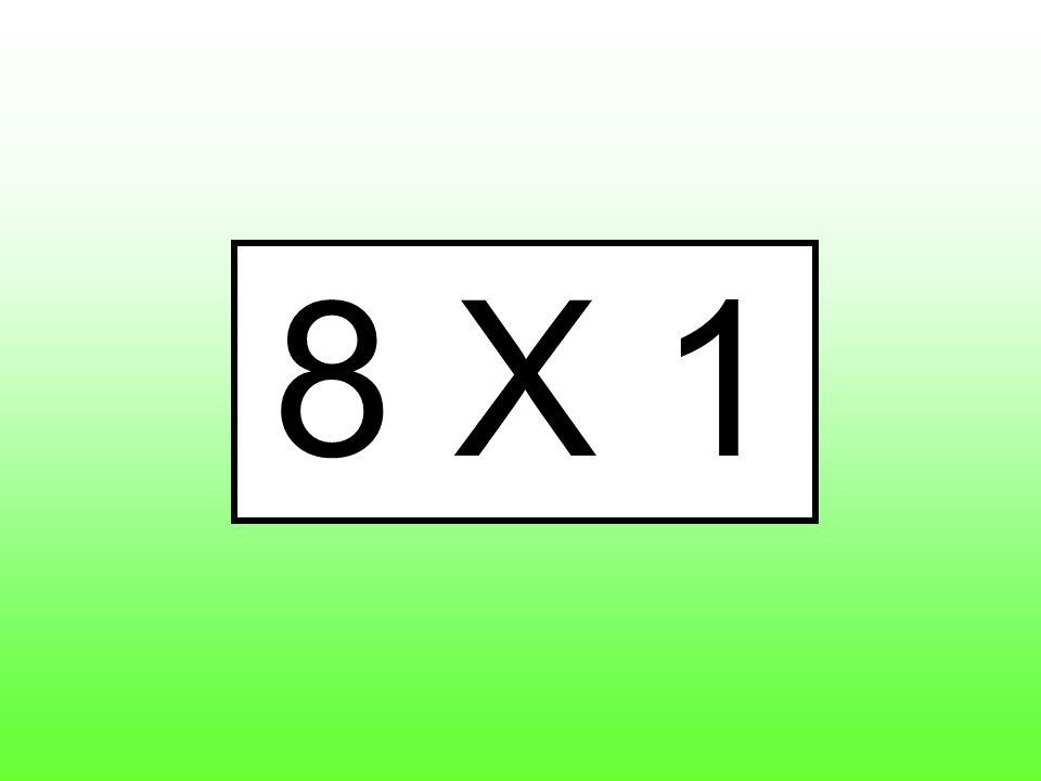 8 X 1