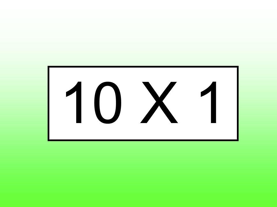 10 X 1