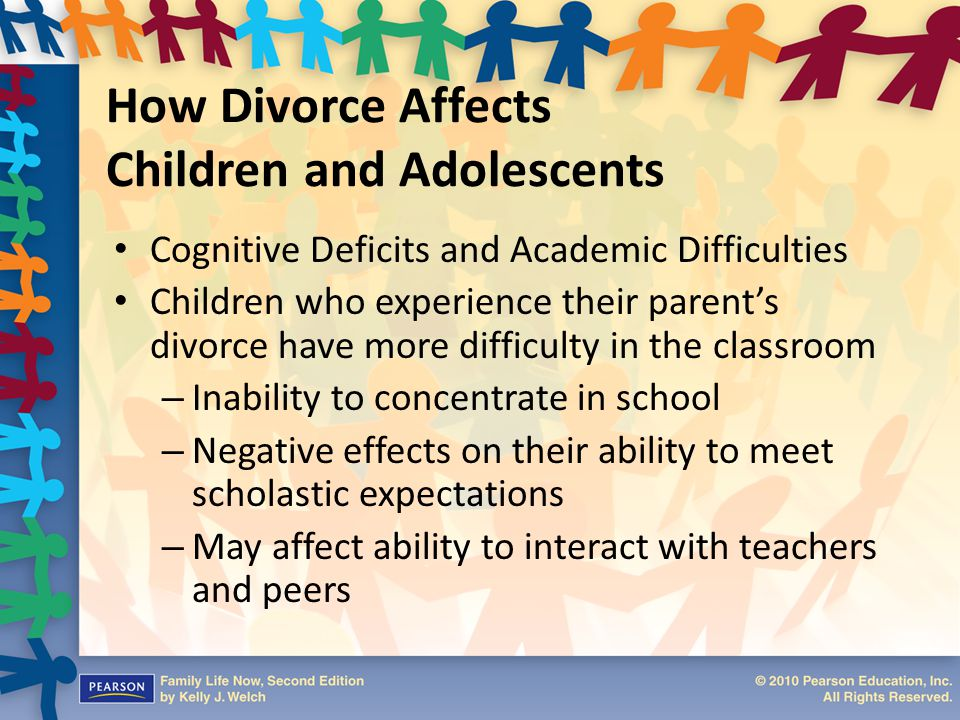 How Divorce Affects Children and Adolescents