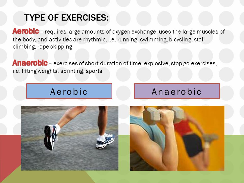 aerobic and anaerobic exercises Your body produces and burns energy in two ways during exercise learn about  aerobic metabolism and anaerobic metabolism and when.