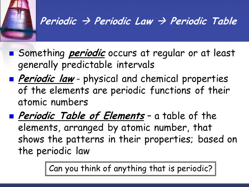 How the periodic table is put together ppt download – Periodic Law Worksheet