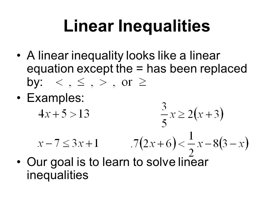 Exam 3 Material Formulas, Proportions, Linear Inequalities - ppt ...